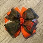 Camo Monogram Hair Bow