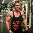 Mens work out tank top stringer athletic fitness sleeveless gym shirt bodybuildi