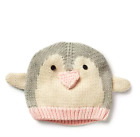 12 18 M BABY GAP Pink Gray Penguin Sweater Knit Beanie Hat Girl New NWT