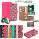 Luxury Magnetic Glitter Leather Wallet Stand Flip Case Cover For Iphone 6 8 7 Se