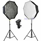 31'' / 80cm Umbrella Octagon Softbox and Light Stand kit for Flash Speedlite