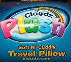 Cloudz Plush Soft N Cuddly Travel Pillow