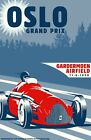 "Oslo Grand Prix, Canvas Racing Poster 24""x 36"""