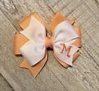 Peach Monogram TODDLER Hair Bow