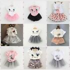 Toddler Kids Girls Baby Outfits Clothes  2PCS Set T-shirt Tops+Tutu Dress Skirt