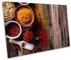 Kitchen Hot Spices Herbs Framed SINGLE CANVAS PRINT Wall Art