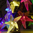 16 FT Outdoor Christmas Party Patio String Lights Set of 30LED Starfish Solar