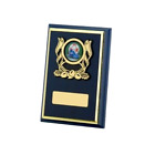 Multi Sport Navy Wooden Plaque Award Karting,Skittles,Motorcross FREE Engraving
