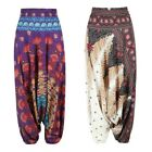 US Women Harem Belly Dance Yoga Pants Cotton Wide High Split Mid Waist Trousers