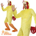 Adult Chicken Costume Farm Easter Animal Jumpsuit Stag Party Fancy Dress Outfit