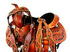 12 13 COWBOY YOUTH KIDS TRAIL FLORAL TOOLED LEATHER WESTERN HORSE BARREL SADDLE