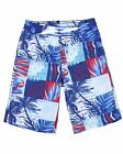 Deux par Deux Boys' Surfer Shorts in Ocean Print Playa Del Mar, Sizes 2-10