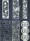3 GROUPS COMBINED - PANELS GATE DIE CUTS* SUB-SETS LOTS 4 - 12 PCS. FRAME READ
