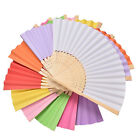 Ladies Hand Held Folding Hand Fan Bamboo Paper Party Wedding Prom Dance NP