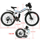 """Electric E Bike Aluminum Frame in Lithium Battery Adult 26"""" Mountain Bicycle"""