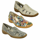 LADIES RIEKER 41385 SLIP ON LOW WEDGE SQUARE TOE CASUAL EVERYDAY SUMMER SHOES