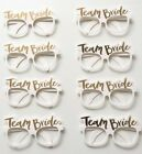 PACK OF 8 TEAM BRIDE GLASSES WHITE GOLD HEN NIGHT PARTY TO BE FAVOURS ACCESSORY