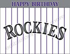 Colorado Rockies Personalized Edible Print Cake Toppers Frosting Sheets 5 Sizes on Ebay