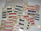 NFL TEAM BUMPER SET Football Helmet Decal - Various Style ONE (1) Bumper Set on eBay