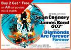 James Bond Diamonds Are Forever 1971 Movie Poster A5 A4 A3 A2 A1 £0.99 GBP on eBay