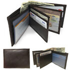 Casaba Genuine Leather Bifold Wallet Cash Slots ID Coin Key Pocket Mens Womens