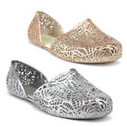 New Chemistry Womens Girls Flex Sparkle Jelly Smoking Ballet Flat Shoes