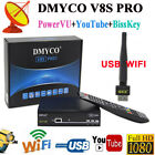 DMYCO V8SPRO 1080P HD Dish Satellite Receiver FTA DVB-S2 Dreambox +Free USB WIFI