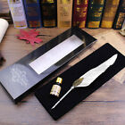Antique Goose Feather Quill Dip Pen and Ink Set Rare Stationery Gift with Box