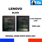 BATTERIA ORIGINALE LENOVO BL229 BL 229 2500mAh 3,8V 9,5Wh GENUINE BATTERY OEM
