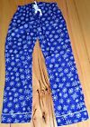Old Navy Ladies Printed Pajama Pants- BLUE & WHITE - SIZES - XS,M,XL & XXL - NEW