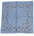 Styllion Paisley printed and solid color Bandanas - 1, 3, 6, 12 pieces