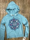 Lucky Brand Kids Selma Hoodie - Aqua Haze Full zip up hooded