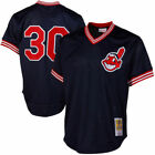 MITCHELL & NESS CLEVELAND INDIANS MESH AUTHENTIC BP JERSEY #30 JOE CARTER on Ebay