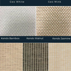 Weave Effect Vertical Blind Samples Bamboo Style Design Swatch Blinds Sample