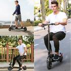 Adult High Speed Black Two Wheels Foldable Electric Kick Scooter USA FREE SHIP.