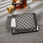 male coin purse - Men cash money bifold wallet coin purse male credit card holder with card clip