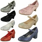 Spot On Girls - Sparkly Kitten Heel Party Shoes