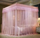 romantic mosquito net bed canopy lace valances bed curtain stainless steel tubes image