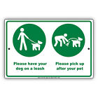 Please Have Your Dog on A Leash Aluminum Metal Sign