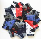 12 Pairs Kids Boys Ankle Sports Socks Cotton Size Age 0-2T 2