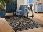 Black Rug 8x10 Distressed Area Rugs 5x7 Living Room Gray Rug