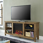 """Walker Edison 58"""" TV Stand with Fireplace Insert"""
