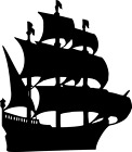 Pirate Ship vinyl decal - For Cars, Laptops, Sticker, Mirrors, etc.