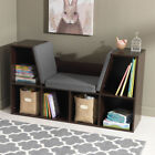 KidKraft Bookcase with Cushioned Reading Nook and 6 Open Storage Spaces