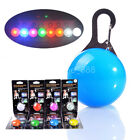 Dog Pet Collar Pendant Safety Round Flashing Glow Light Blinking LED Tags Puppy