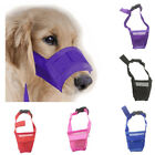 Adjustable Puppy Dog Bark Mask Bite Mesh Mouth Muzzle Grooming Anti Stop Chewing