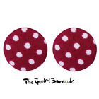 TFB - DOTTY DAYS STUD EARRINGS Funky Quirky Vintage Retro Cute Cotton Rockabilly