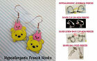 Tsum Pooh & Piglet Earrings *OPTIONS* Hypoallergenic OR Clip On Earrings