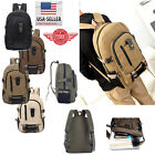 Men Retro Vintage Canvas Backpack Rucksack Travel Sports School Hiking Bag M12