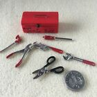 1:12 scale TOOL BOX, TOOLS Spanner/Drill Dolls House Garden/Shed/Garage D.I.Y.